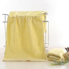 2018新款回格毛巾 黄色31*71cm