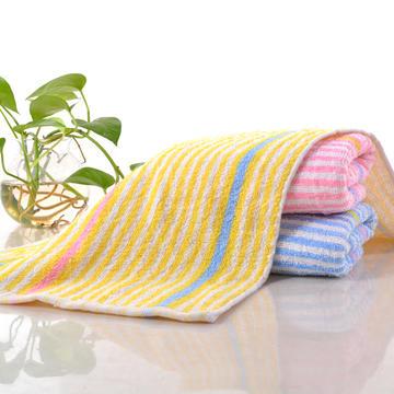 2018新款炫彩毛巾 黄色32*72cm