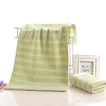 2018新款波浪纹毛巾 绿色34*74cm