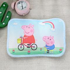 幼儿园儿童系列大版数码印花冰丝童枕 如需无纺布手提袋/个 彩虹佩奇