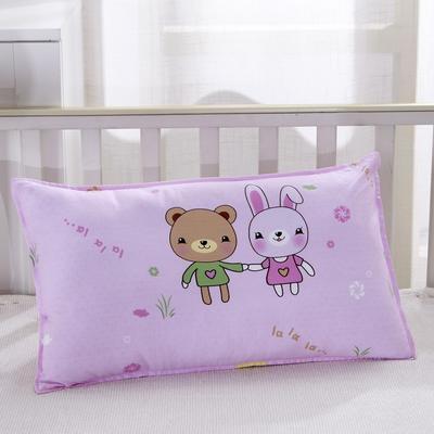 幼儿园儿童系列大版花13372纯棉卡通定位枕套 枕芯包装/个 小伙伴枕套