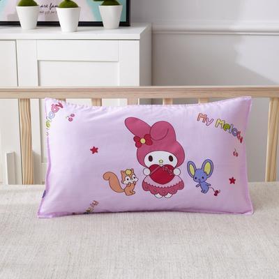 幼儿园儿童系列大版花13372纯棉卡通定位枕套 枕芯包装/个 小可爱枕套