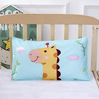 幼儿园儿童系列大版花13372纯棉卡通定位枕套 枕芯包装/个 小鹿枕套