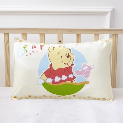 幼儿园儿童系列大版花13372纯棉卡通定位枕套 枕芯包装/个 小熊天地枕套