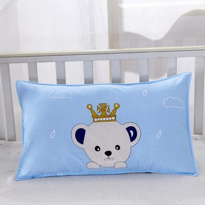 幼儿园儿童系列大版花13372纯棉卡通定位枕套 枕芯包装/个 小熊王国枕套