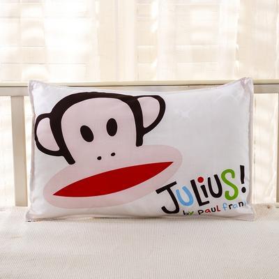 幼儿园儿童系列大版花13372纯棉卡通定位枕套 枕芯包装/个 幸福猴枕套
