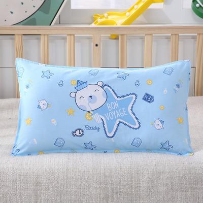 幼儿园儿童系列大版花13372纯棉卡通定位枕套 枕芯包装/个 扬帆之旅枕套