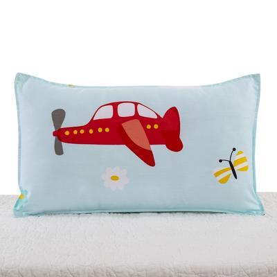幼儿园儿童系列大版花13372纯棉卡通定位枕套 枕芯包装/个 阳光乐园枕套