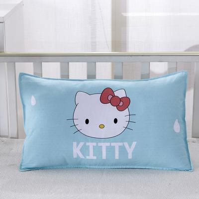 幼儿园儿童系列大版花13372纯棉卡通定位枕套 枕芯包装/个 雨中凯特枕套