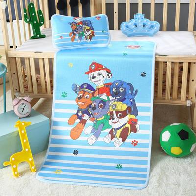 幼儿园儿童系列大版数码印花冰丝童席 如需无纺布手提袋/个 宽条汪汪队