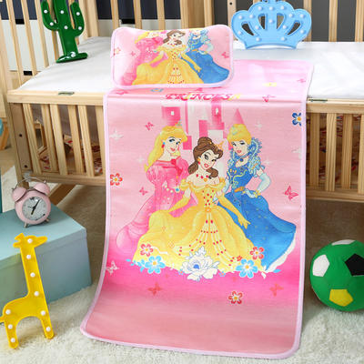 幼儿园儿童系列大版数码印花冰丝童席 如需无纺布手提袋/个 美丽公主
