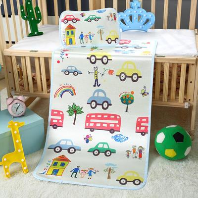 幼儿园儿童系列大版数码印花冰丝童席 如需无纺布手提袋/个 汽车家族