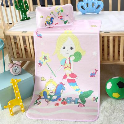 幼儿园儿童系列大版数码印花冰丝童席 如需无纺布手提袋/个 人鱼公主