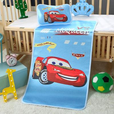 幼儿园儿童系列大版数码印花冰丝童席 如需无纺布手提袋/个 闪电麦昆