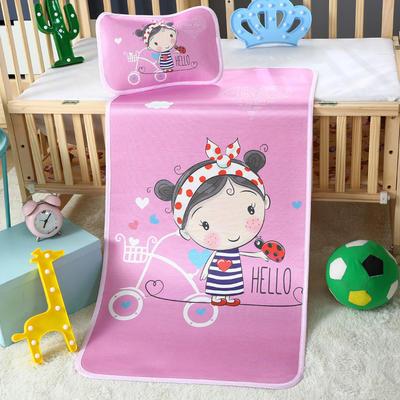 幼儿园儿童系列大版数码印花冰丝童席 如需无纺布手提袋/个 糖果女孩