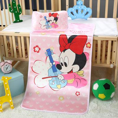 幼儿园儿童系列大版数码印花冰丝童席 如需无纺布手提袋/个 天才米妮