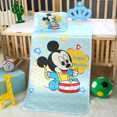 幼儿园儿童系列大版数码印花冰丝童席 如需无纺布手提袋/个 天才米奇