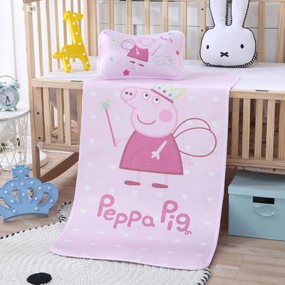 幼儿园儿童系列大版数码印花冰丝童席 如需无纺布手提袋/个 天使佩奇