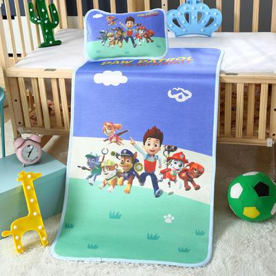 幼儿园儿童系列大版数码印花冰丝童席 如需无纺布手提袋/个 汪汪队立大功
