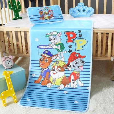 幼儿园儿童系列大版数码印花冰丝童席 如需无纺布手提袋/个 细条汪汪队
