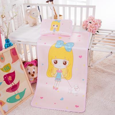 幼儿园儿童系列大版数码印花冰丝童席 如需无纺布手提袋/个 小女孩