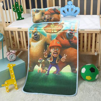 幼儿园儿童系列大版数码印花冰丝童席 如需无纺布手提袋/个 熊出没