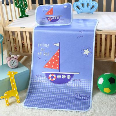 幼儿园儿童系列大版数码印花冰丝童席 如需无纺布手提袋/个 杨帆起航