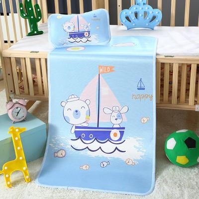幼儿园儿童系列大版数码印花冰丝童席 如需无纺布手提袋/个 杨帆之旅