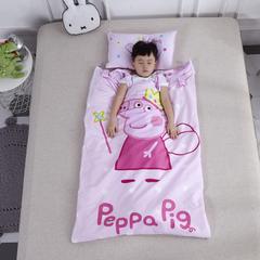 2018新款幼儿园儿童系列大版花型儿童睡袋防踢被-80*120cm 丝绵内胆丝厚一套天使佩奇