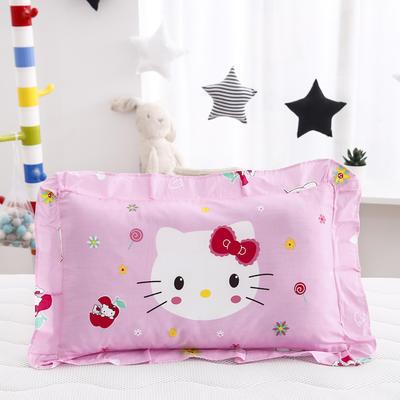 2019新款大版卡通花边枕套 枕芯包装 甜美KT