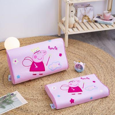 2019新款大版卡通水晶绒乳胶枕套 27*44cm*6/6(含枕套、内套和乳胶枕芯)/只 天使佩奇