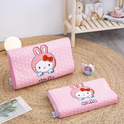 2019新款大版卡通水晶绒乳胶枕套 27*44cm*6/6(含枕套、内套和乳胶枕芯)/只 微笑猫咪