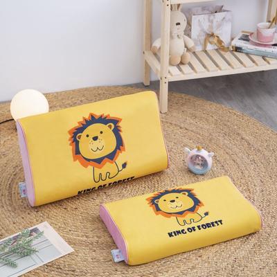 2019新款大版卡通水晶绒乳胶枕套 27*44cm*6/6(含枕套、内套和乳胶枕芯)/只 小狮子