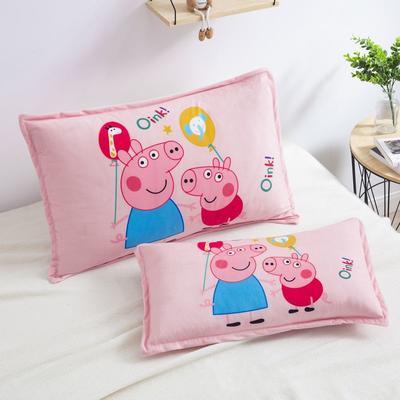 2019新款大版卡通水晶绒信封枕套 30cmX50cm单枕套 幻彩佩奇