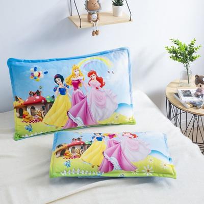 2019新款大版卡通水晶绒信封枕套 30cmX50cm单枕套 梦幻三公主