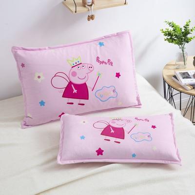 2019新款大版卡通水晶绒信封枕套 30cmX50cm单枕套 天使佩奇