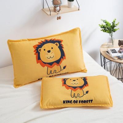 2019新款大版卡通水晶绒信封枕套 30cmX50cm单枕套 小狮子