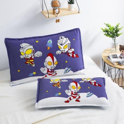 2019新款大版卡通水晶绒信封枕套 30cmX50cm单枕套 星球奥特曼