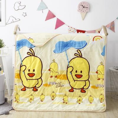 2020新款儿童磨毛卡通夏被 120x150cm单夏被 小黄鸭-黄