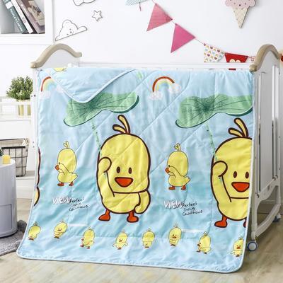 2020新款儿童磨毛卡通夏被 120x150cm单夏被 小黄鸭-蓝