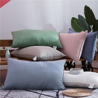 2018新款水洗棉枕芯 浅石兰