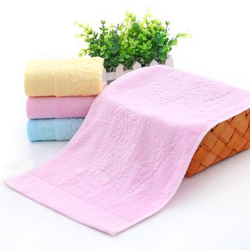 2018新款竹子熊童巾 粉色25*50cm