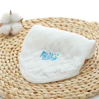 2018新款纯棉绣字方巾 30*30cm 白色隔奶水