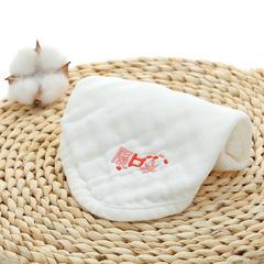 2018新款纯棉绣字方巾 30*30cm 白色隔口水