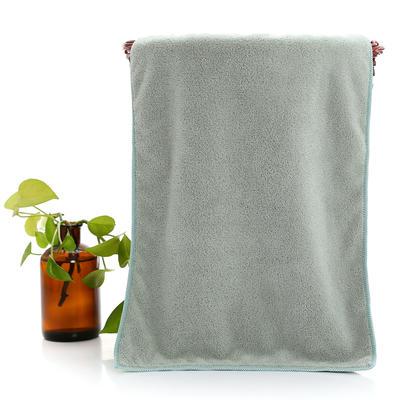 2018新款珊瑚绒毛巾浴巾套巾 绿色毛巾(35*75cm)