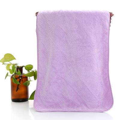 2018新款珊瑚绒毛巾浴巾套巾 紫色毛巾(35*75cm)