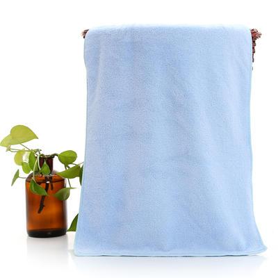 2018新款珊瑚绒毛巾浴巾套巾 蓝色毛巾(35*75cm)