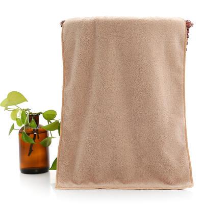 2018新款珊瑚绒毛巾浴巾套巾 咖色毛巾(35*75cm)