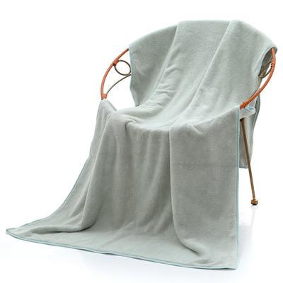 2018新款珊瑚绒毛巾浴巾套巾 绿色浴巾(70*140cm)