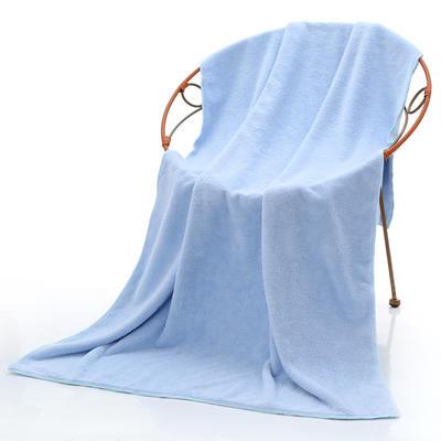 2018新款珊瑚绒毛巾浴巾套巾 蓝色浴巾(70*140cm)